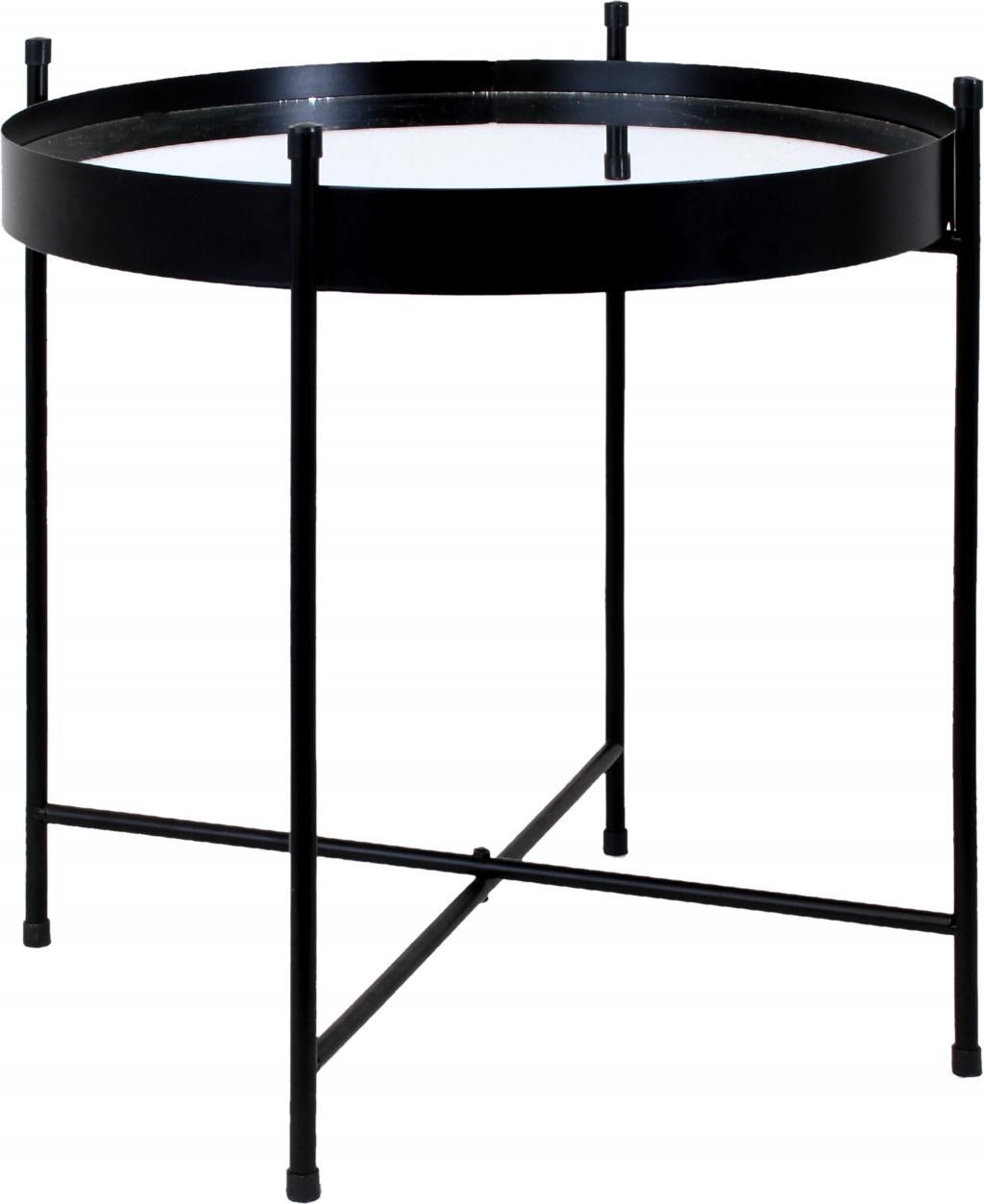 beistelltisch mirror schwarz rund le studio kaufen wohn und. Black Bedroom Furniture Sets. Home Design Ideas