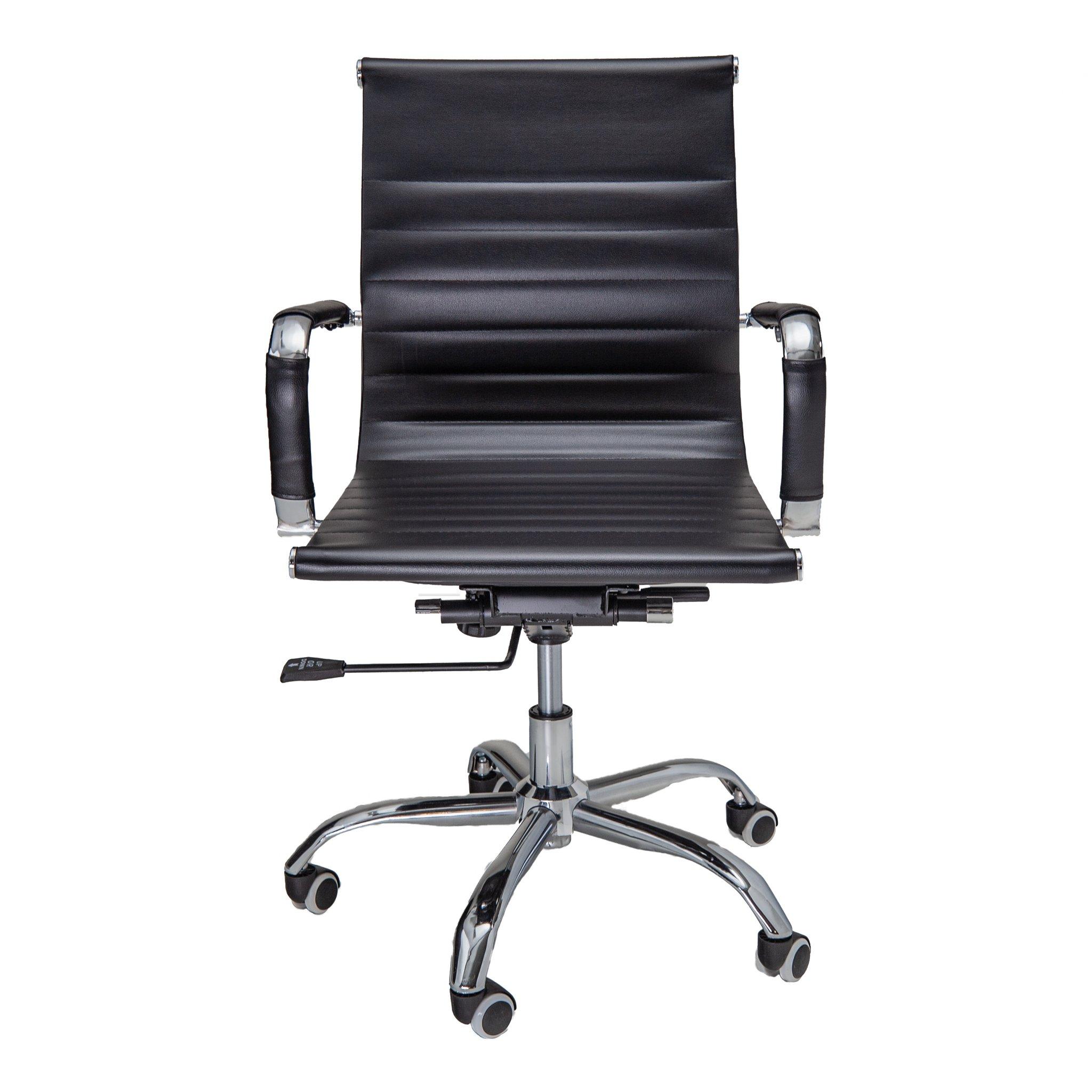 Bureaustoel Randers - Zwart lage rugleuning - voorkant