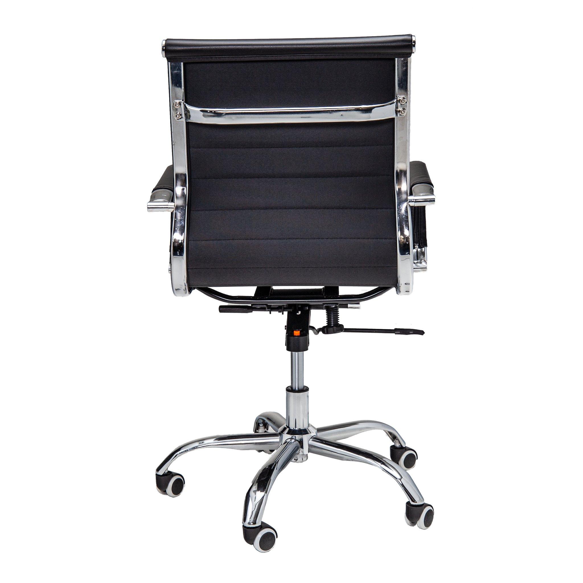 Bureaustoel Randers - Zwart lage rugleuning - achterkant