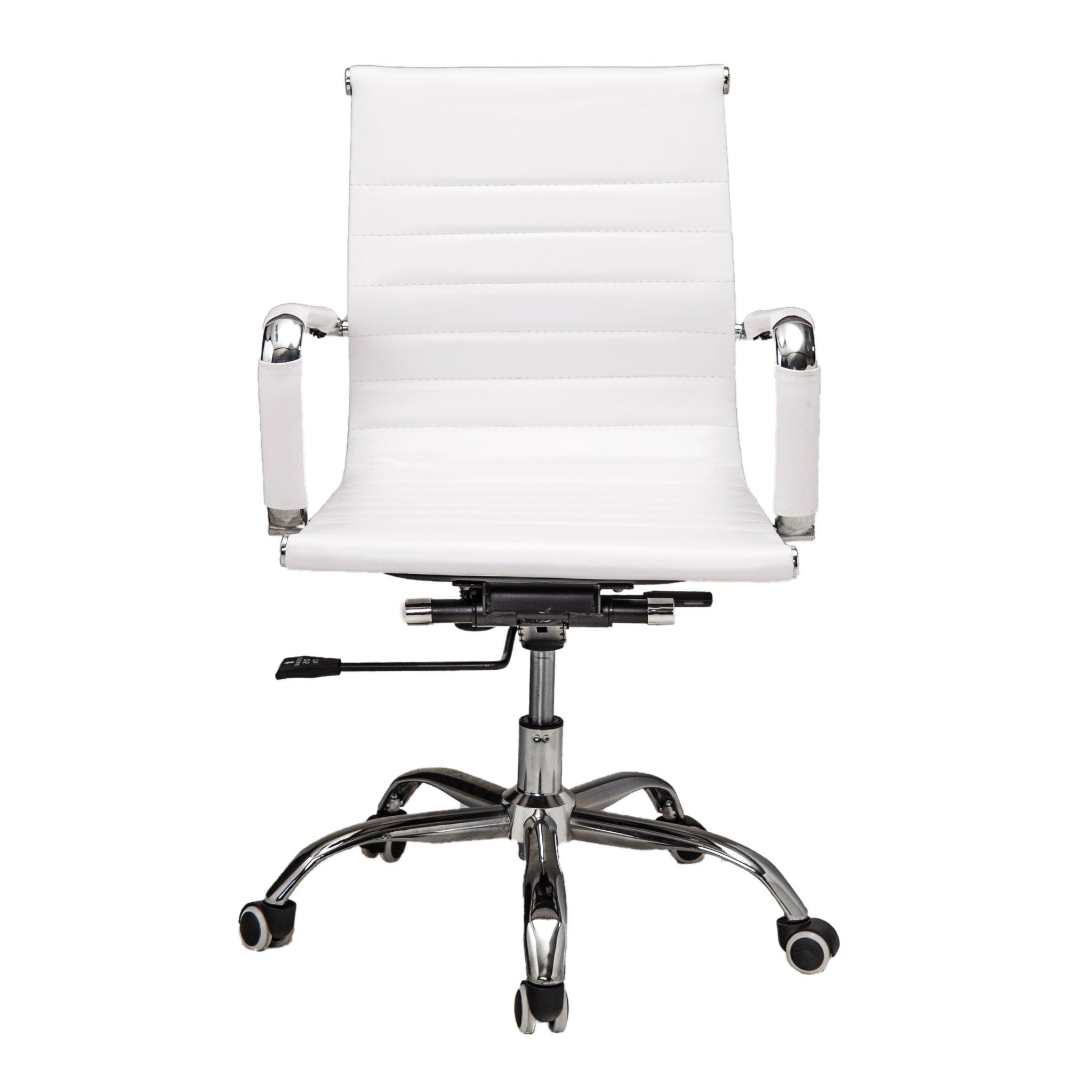 Bureaustoel Randers - wit lage rugleuning - voorkant