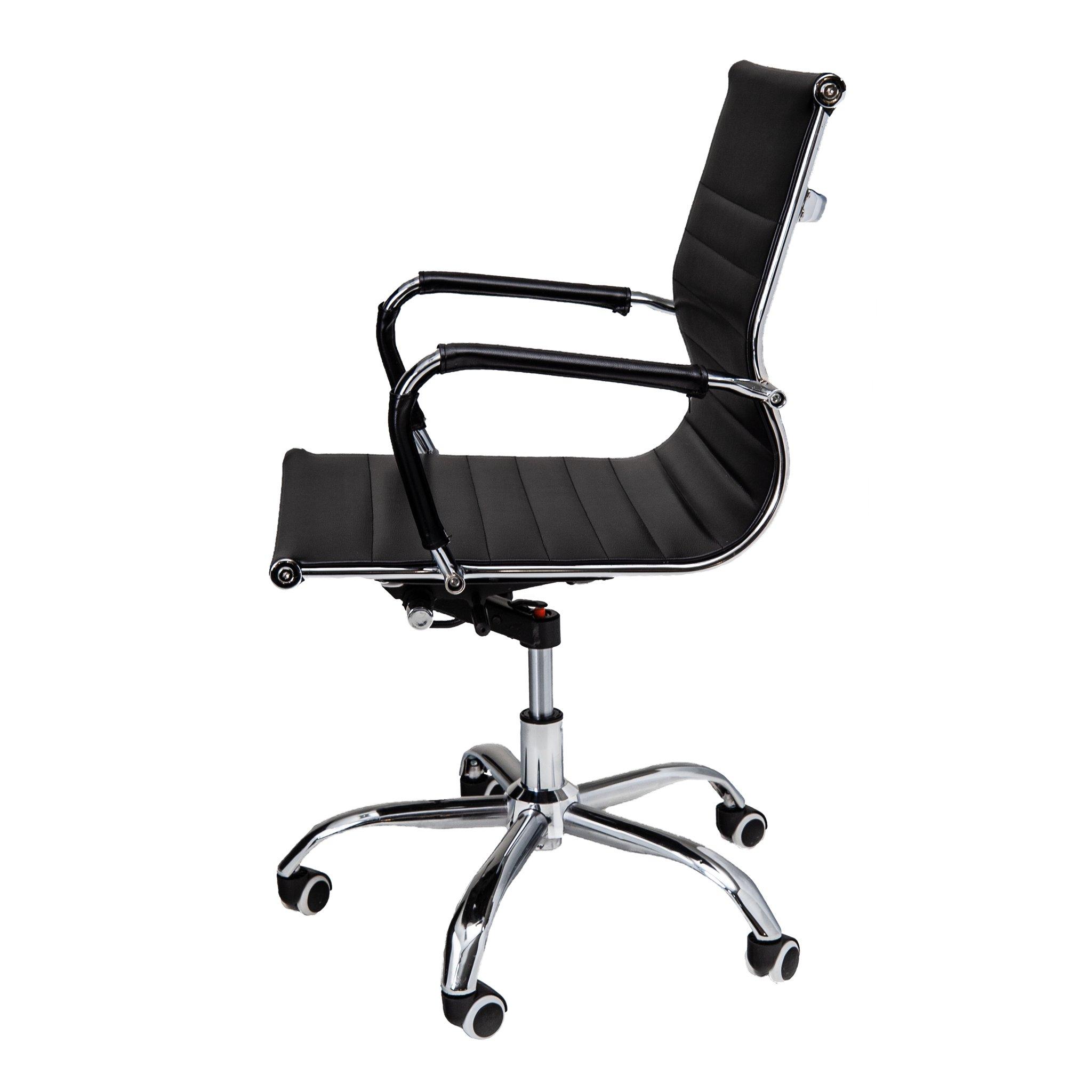 Bureaustoel Randers - Zwart lage rugleuning - zijkant