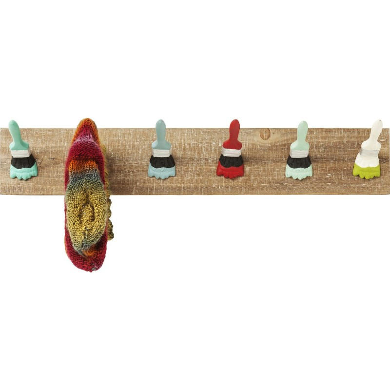 Kare Design Kapstok Paintbrush Party 8-haaks Vurenhout