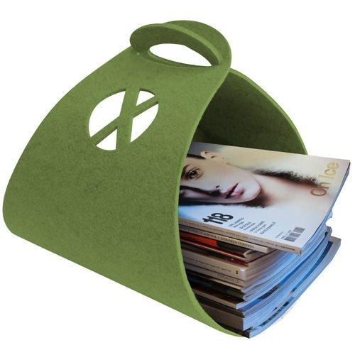 Tijdschriftenhouder Logster - Groen - Xala