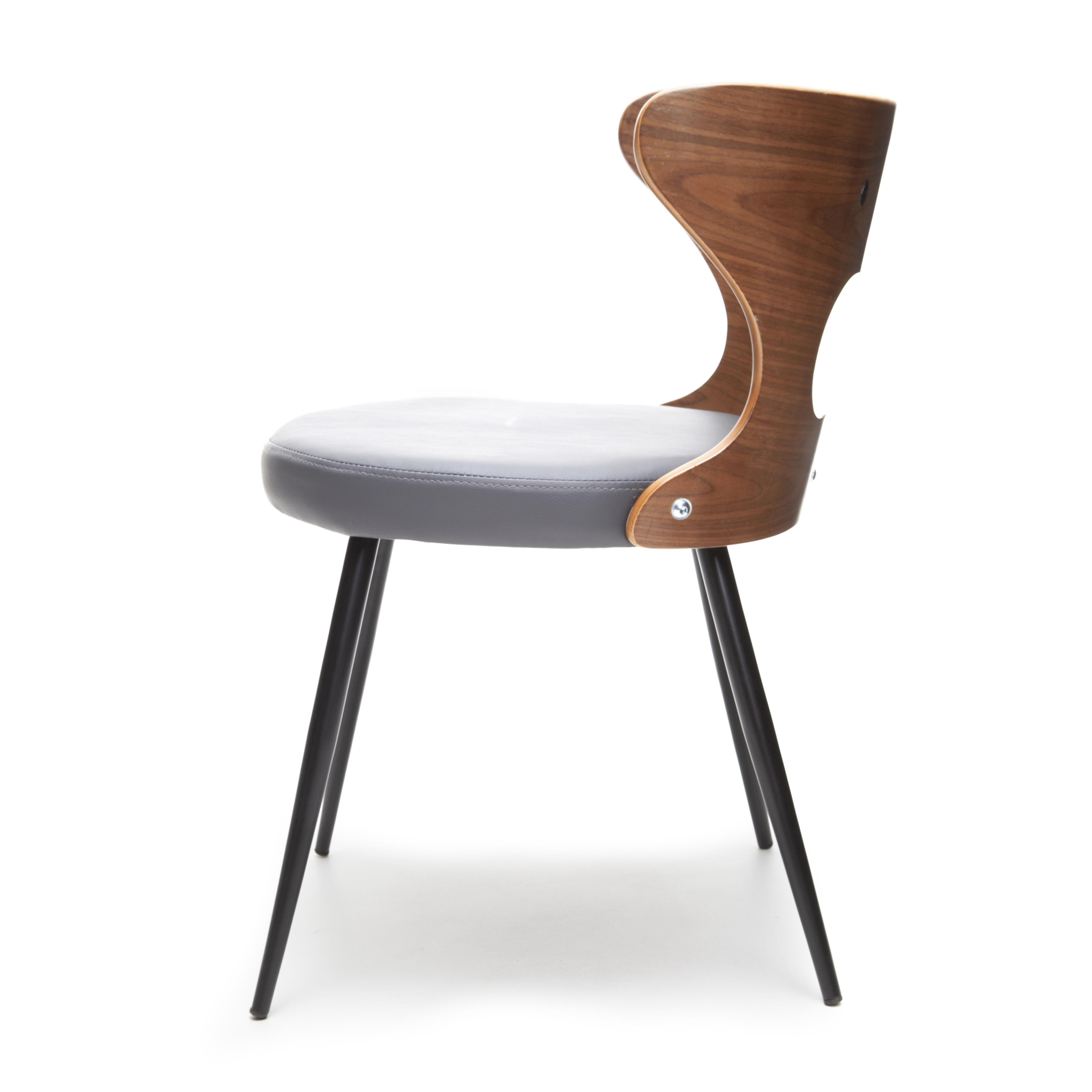 Stoel Vejen - Grijs/Walnoot - LiL Design