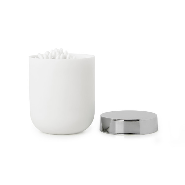 JUNIP CANISTER W. LID CHRM/WHT