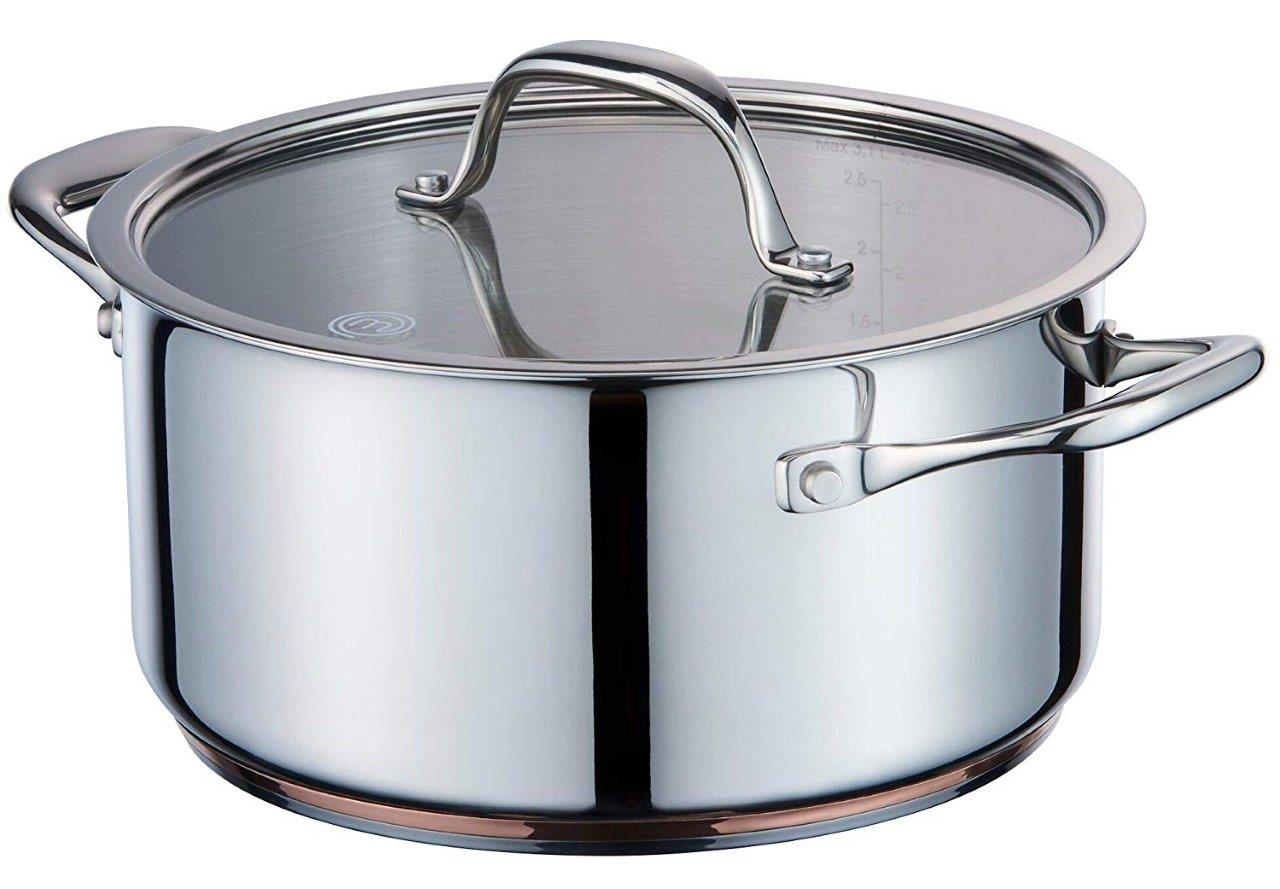 MasterChef Copperline Casserole Pan 16 cm