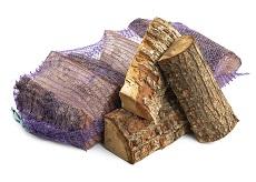 Netzakken brandhout
