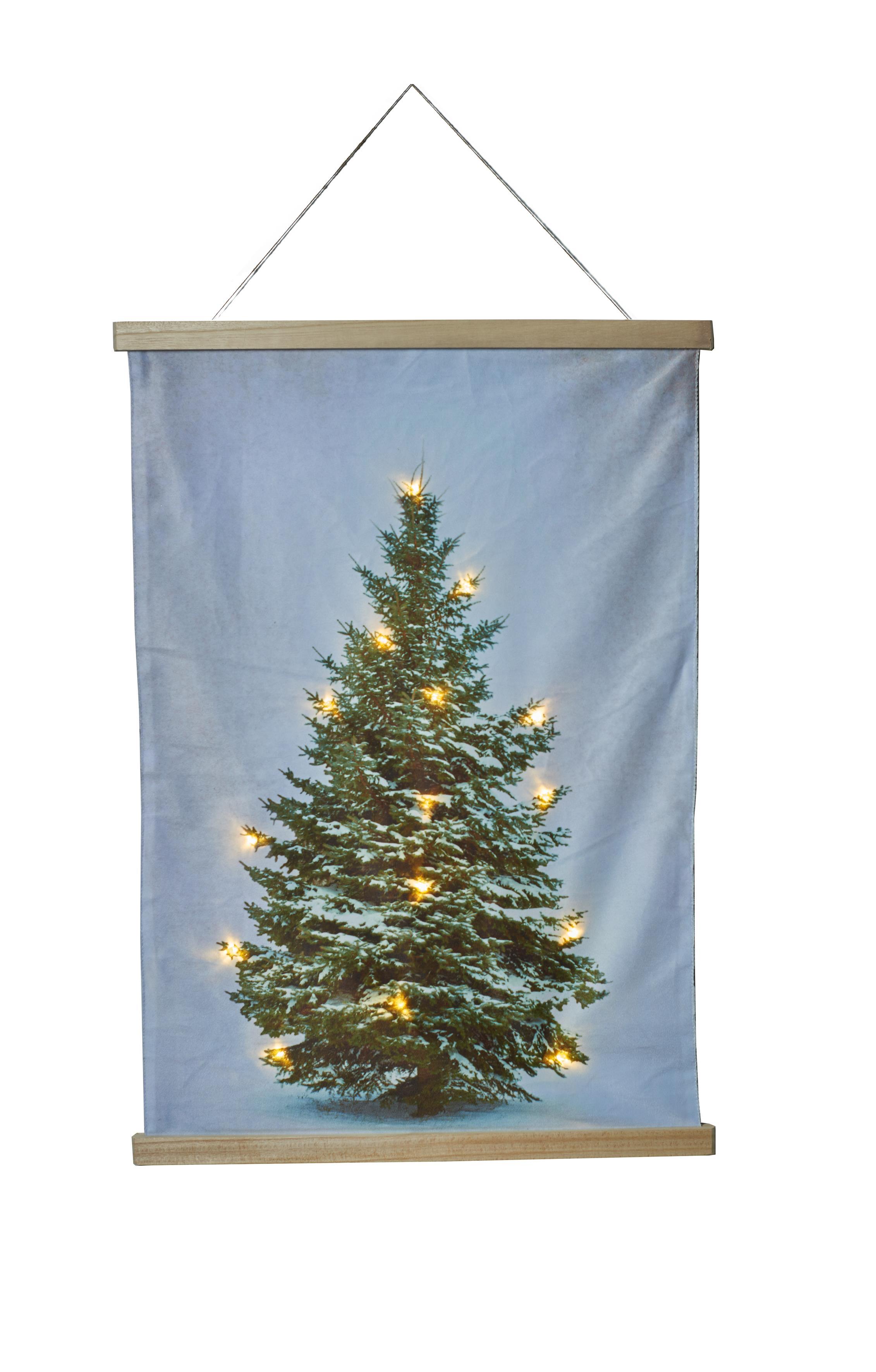 Wandkleden kerstboomprint met LED