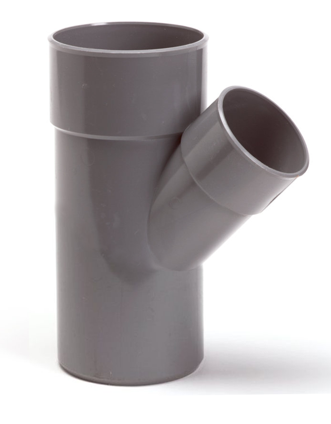 PVC verloop T-stuk 45 graden