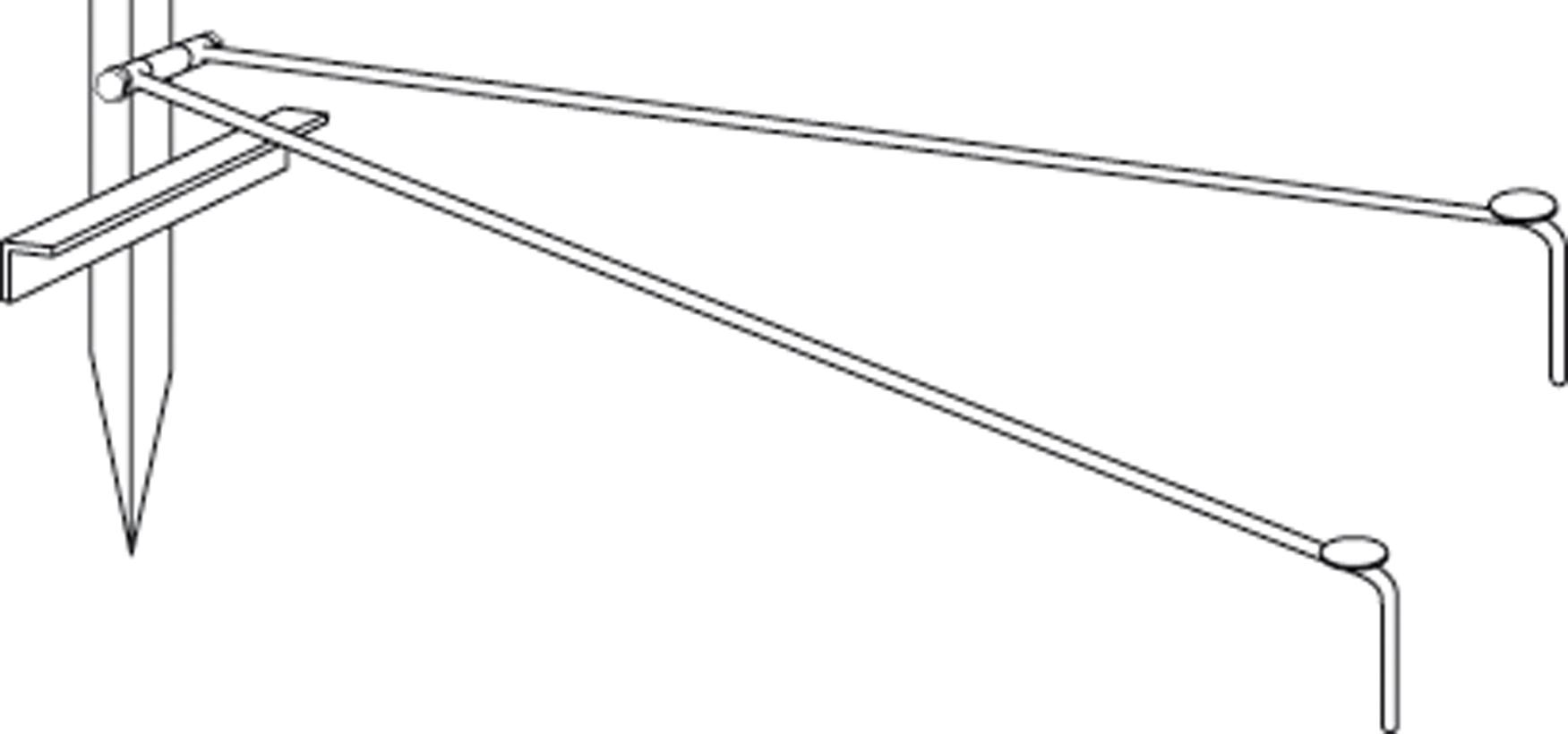 Steunpoot voor haspelpaal