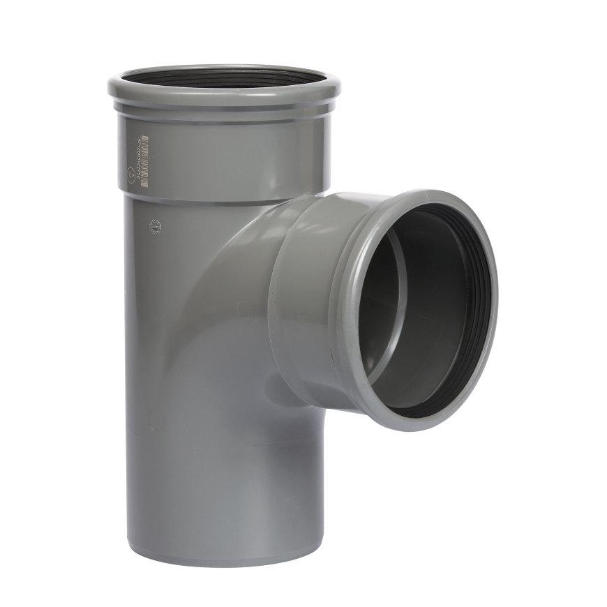 PVC T-STUK 2 x Manchet / Spie 110mm 90°