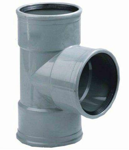PVC T-STUK 90 graden 3 X MANCHET