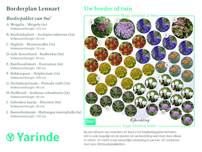 Beplantingsplan borderpakket Lennart