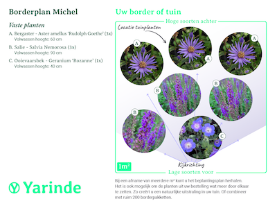 Beplantingsplan borderpakket Michel
