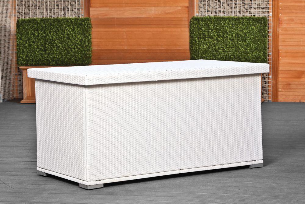 wicker kussenbox 160 x 80 x 80 cm arcachon kunststof tuinbox. Black Bedroom Furniture Sets. Home Design Ideas