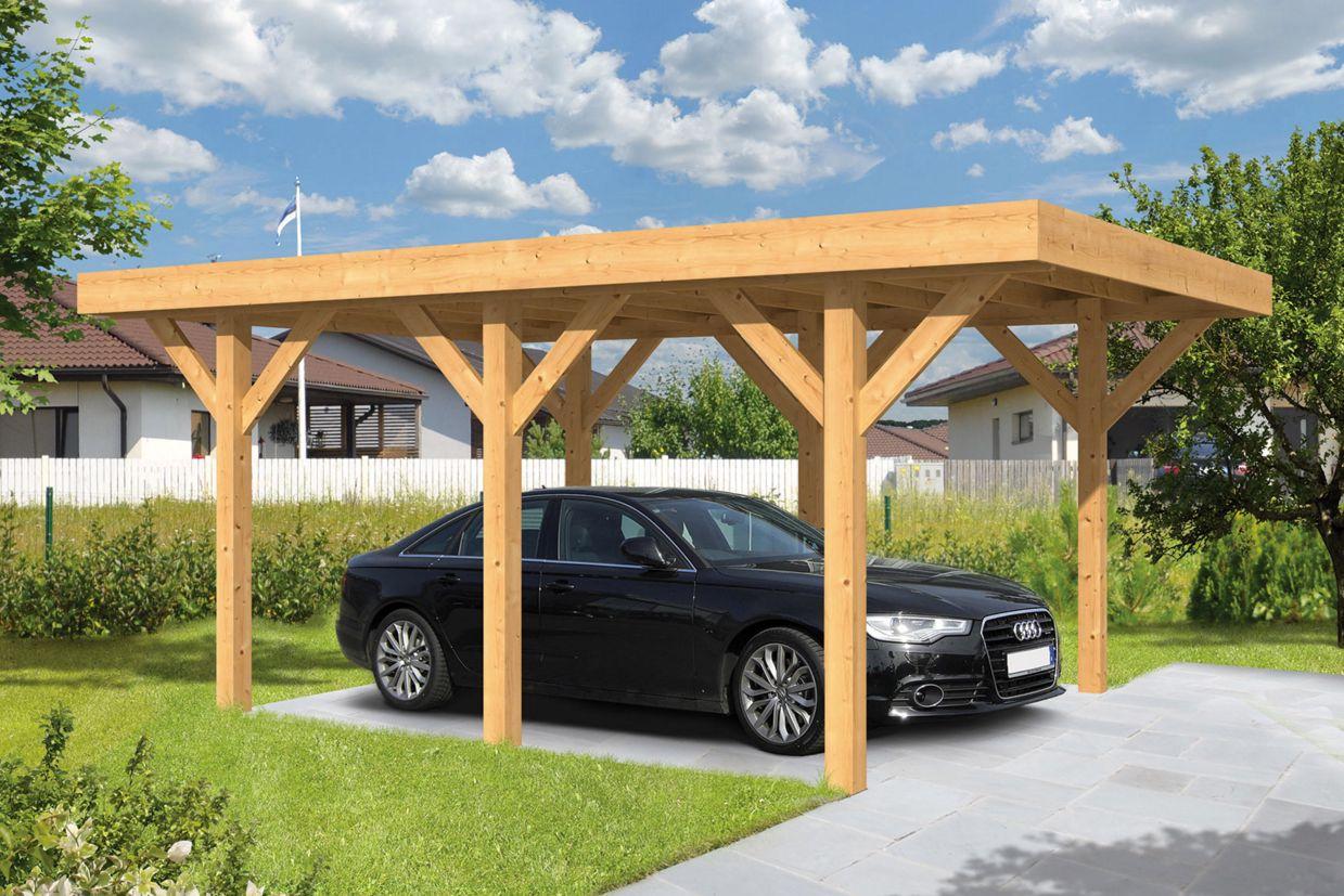 houten carport auto carport hout ge mpregneerd en lariks. Black Bedroom Furniture Sets. Home Design Ideas