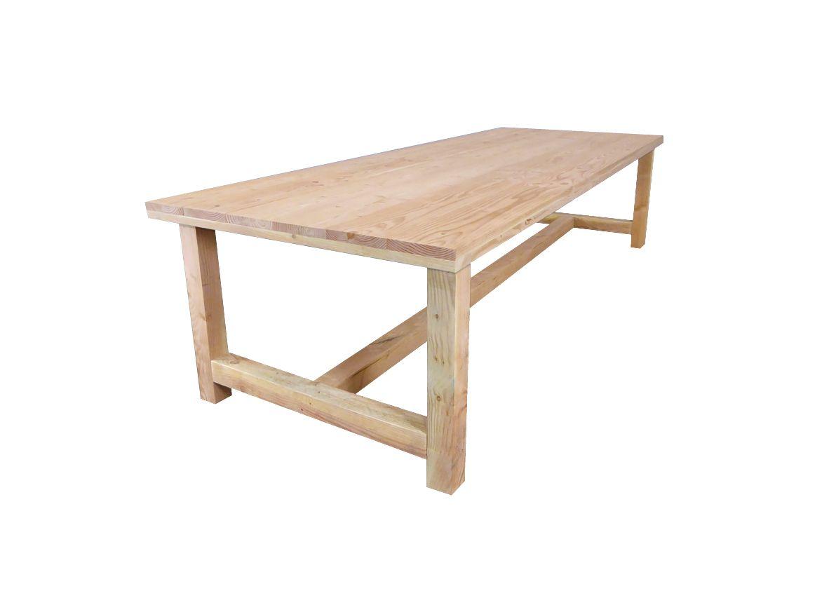 Kloostertafel lariks hout 180 320 cm eettafel for Hout voor tafel