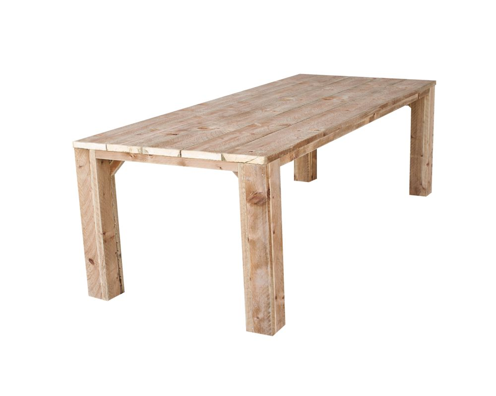Steigerhout tuintafel bruin geïmpregneerd 3.2 meter tafel