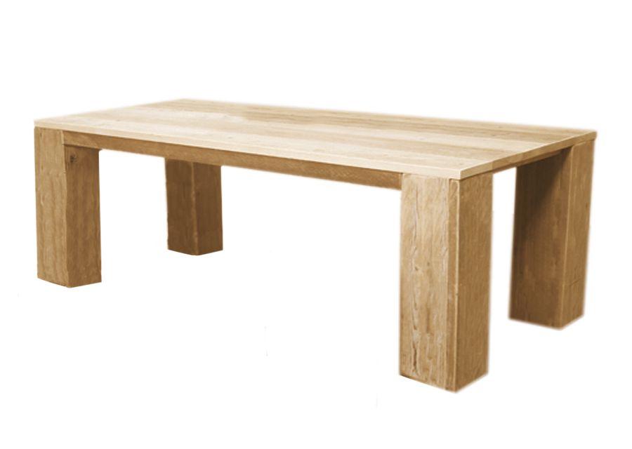 Tafel steigerhout blank vuren hout 260 x 100 x 75 cm
