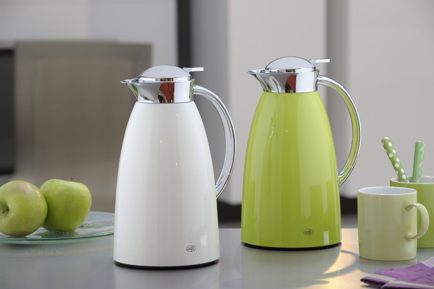 alfi thermoskan gusto polar wit 1 liter online cookinglife. Black Bedroom Furniture Sets. Home Design Ideas