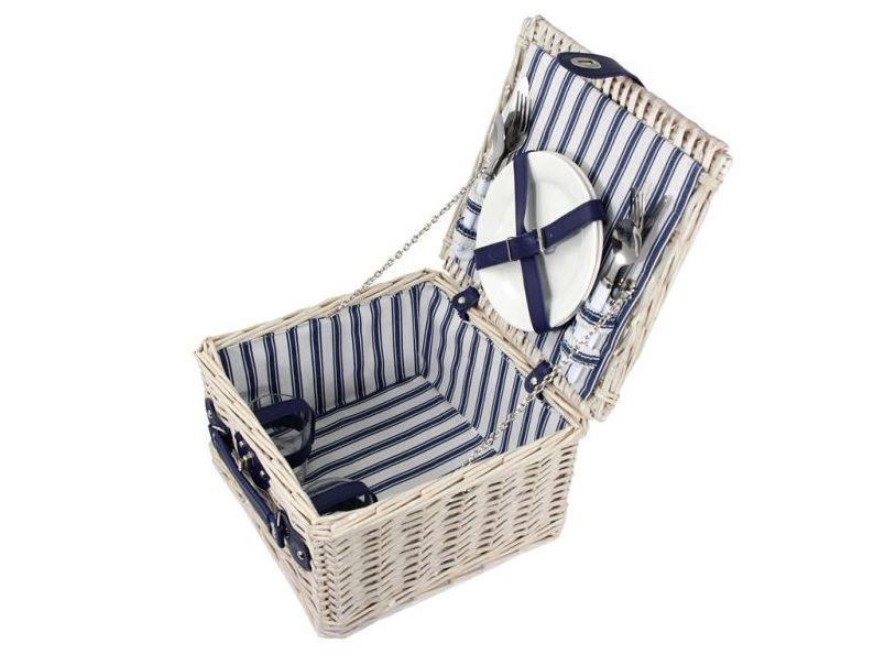 Picknickmand 2-pers wit