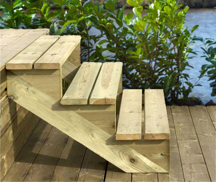 Houten tuintrap aanleggen buitentrap maken for Trap buiten hout
