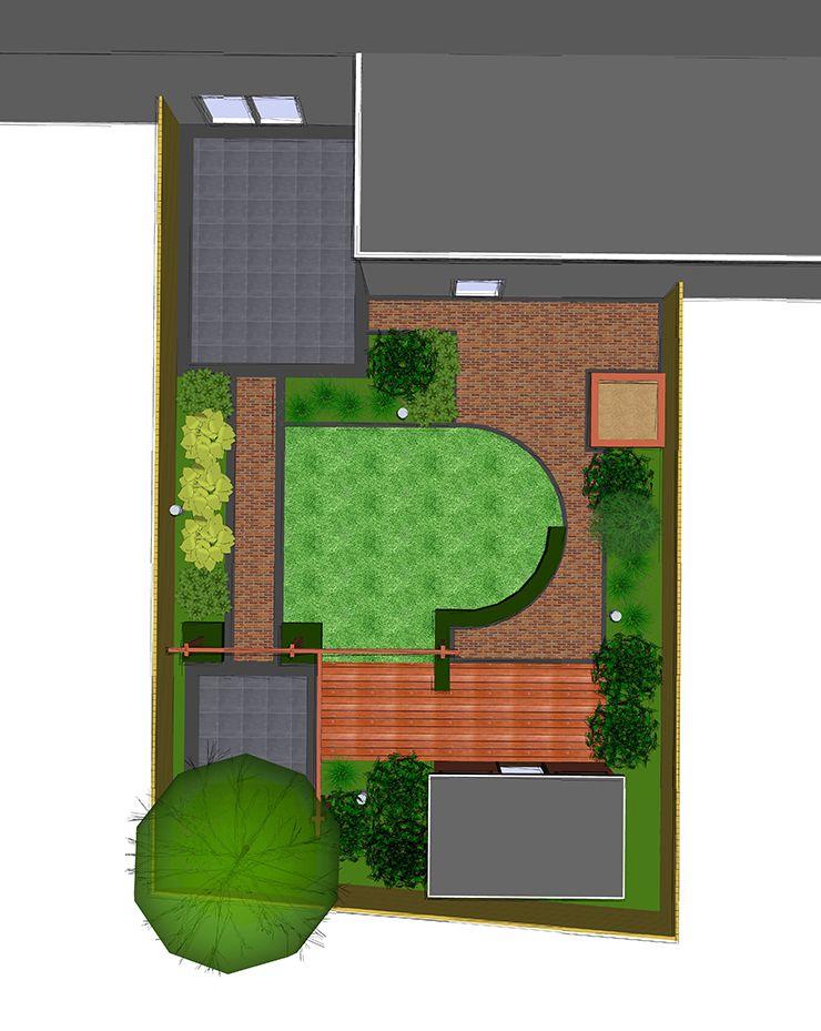 Tuinontwerp achtertuin 3d ontwerp tuin modern for Tuinontwerpen achtertuin