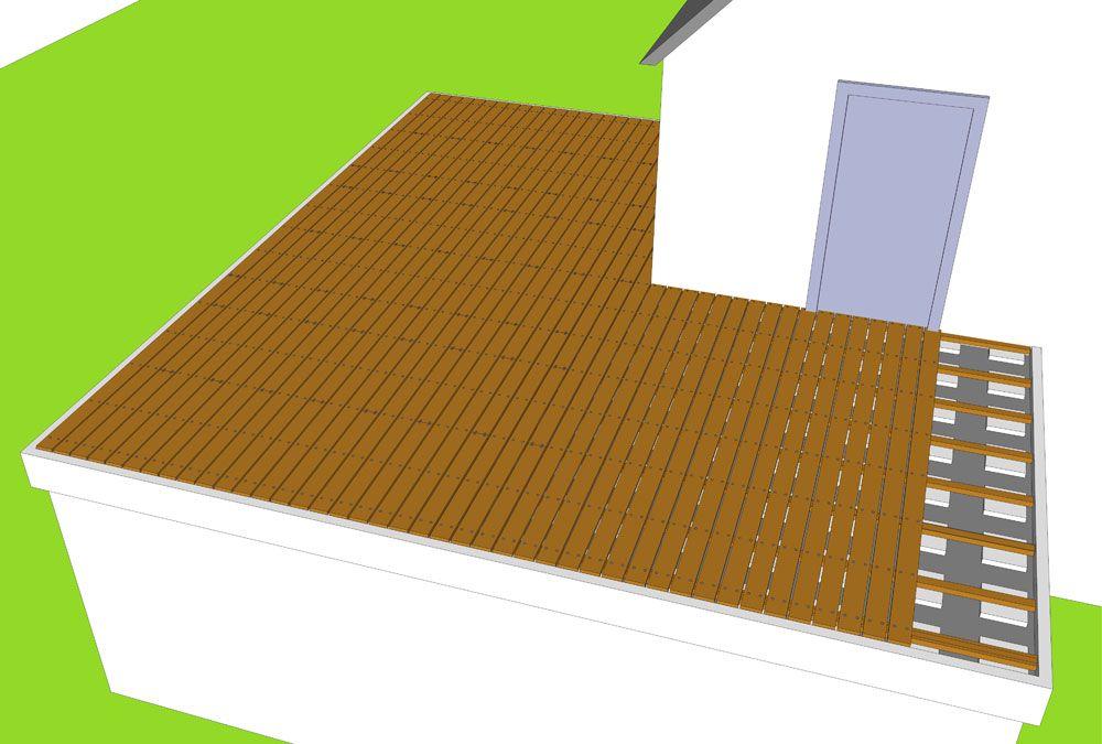 Super Houten Dakterras Maken op plat dak balkon vlonder bouwen AS12