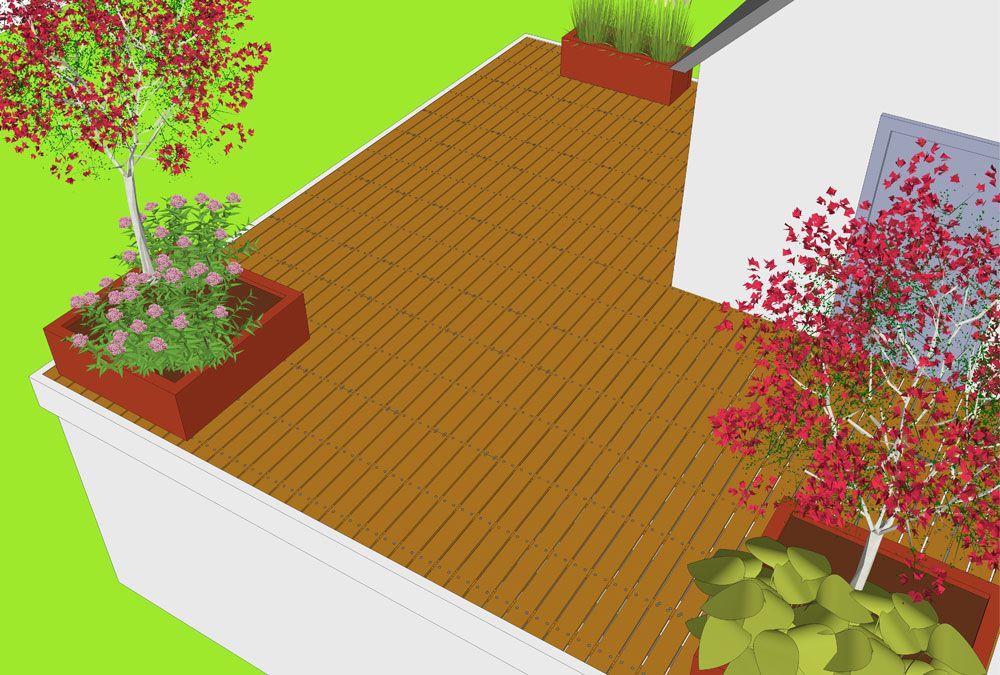 Houten dakterras maken op plat dak balkon vlonder bouwen