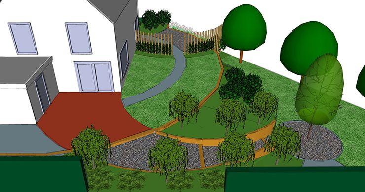 Grote tuin ontwerp 3d tuinontwerp laten tekenen - Ontwikkel een grote tuin ...