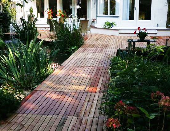 Tegels Leggen Tuin : Zelf houten tuintegels leggen houten terrastegels leggen tips