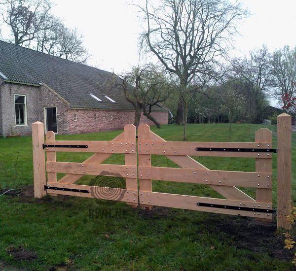 Top Zelf houten oprit poort maken Hoe Toeganspoort bouwen opritpoort &NC11