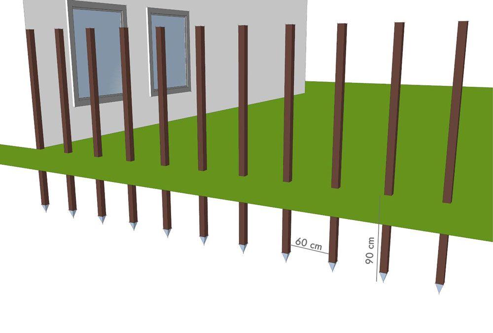Zweeds Rabat Schutting Laten Plaatsen.Houten Rabat Schutting Dichte Wand Maken
