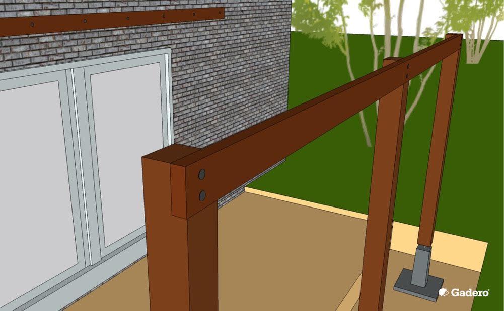 Zelf aanbouw veranda maken luifel overkapping aan woning tips - Veranda met stenen muur ...