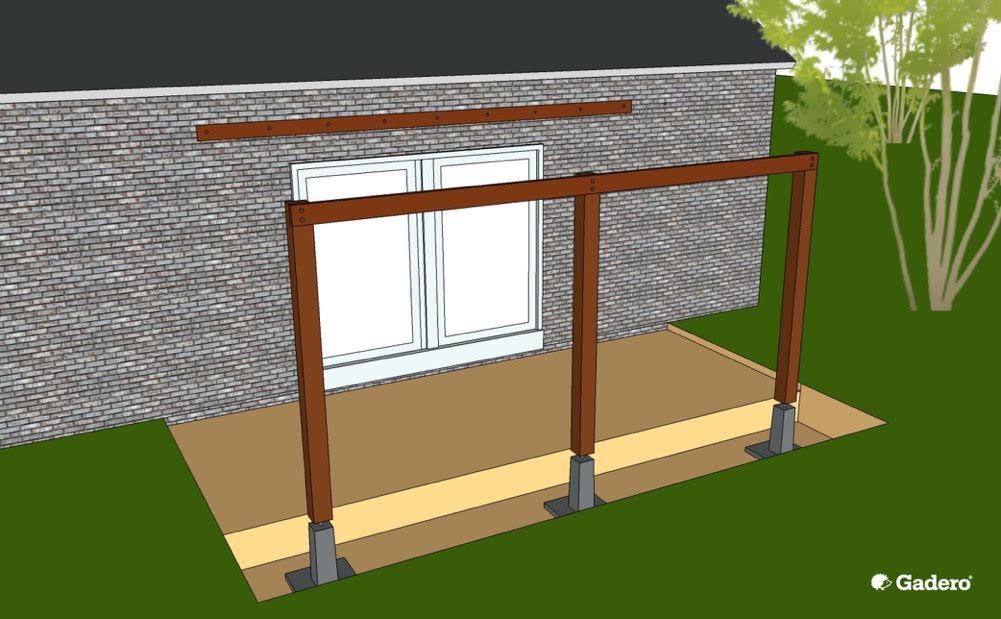 Bekend Zelf Aanbouw Veranda maken Luifel Overkapping aan woning tips TJ58
