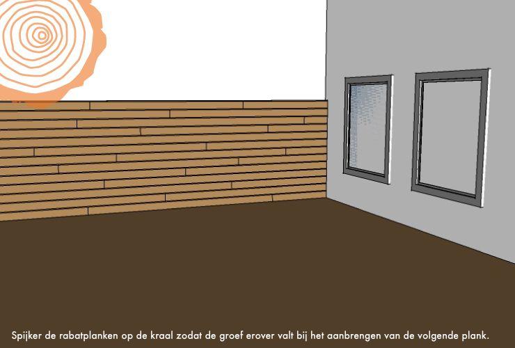 Wand Maken Met Hout : Houten Rabat schutting - Dichte wand maken