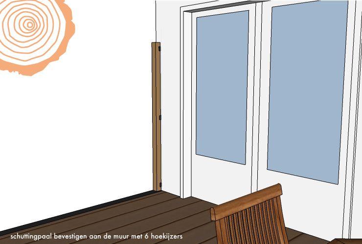 Houten Plank Aan Muur Bevestigen.Schuttingpaal Aan Muur Bevestigen Vierkante Paal Aan Woning Mo