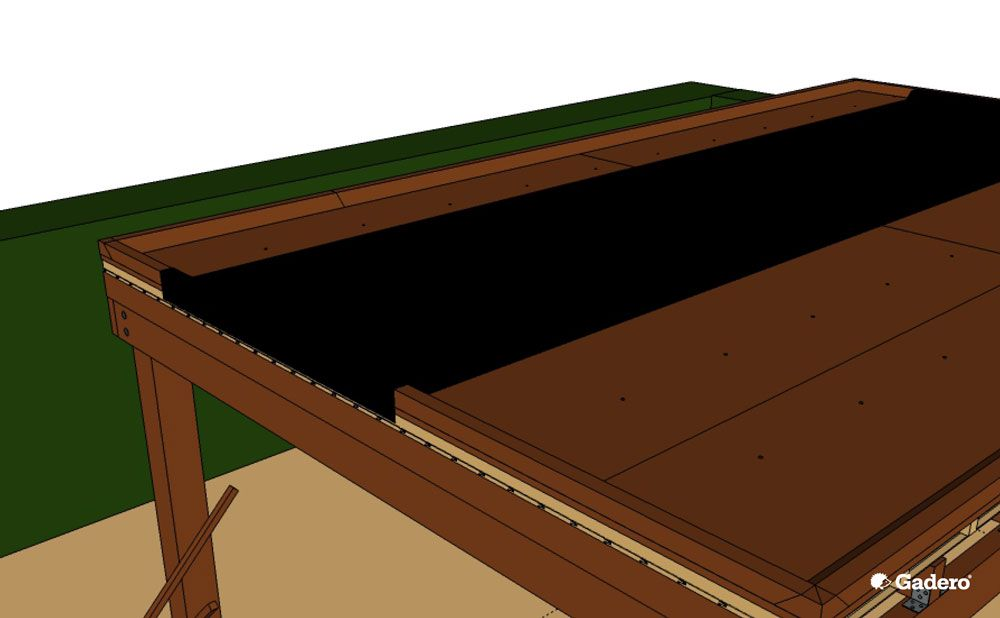 overkapping plat dak dakbedekking aanbrengen dakleer of epdm