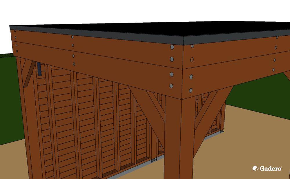 Daktrim geplaatst dak overkapping randafwerking