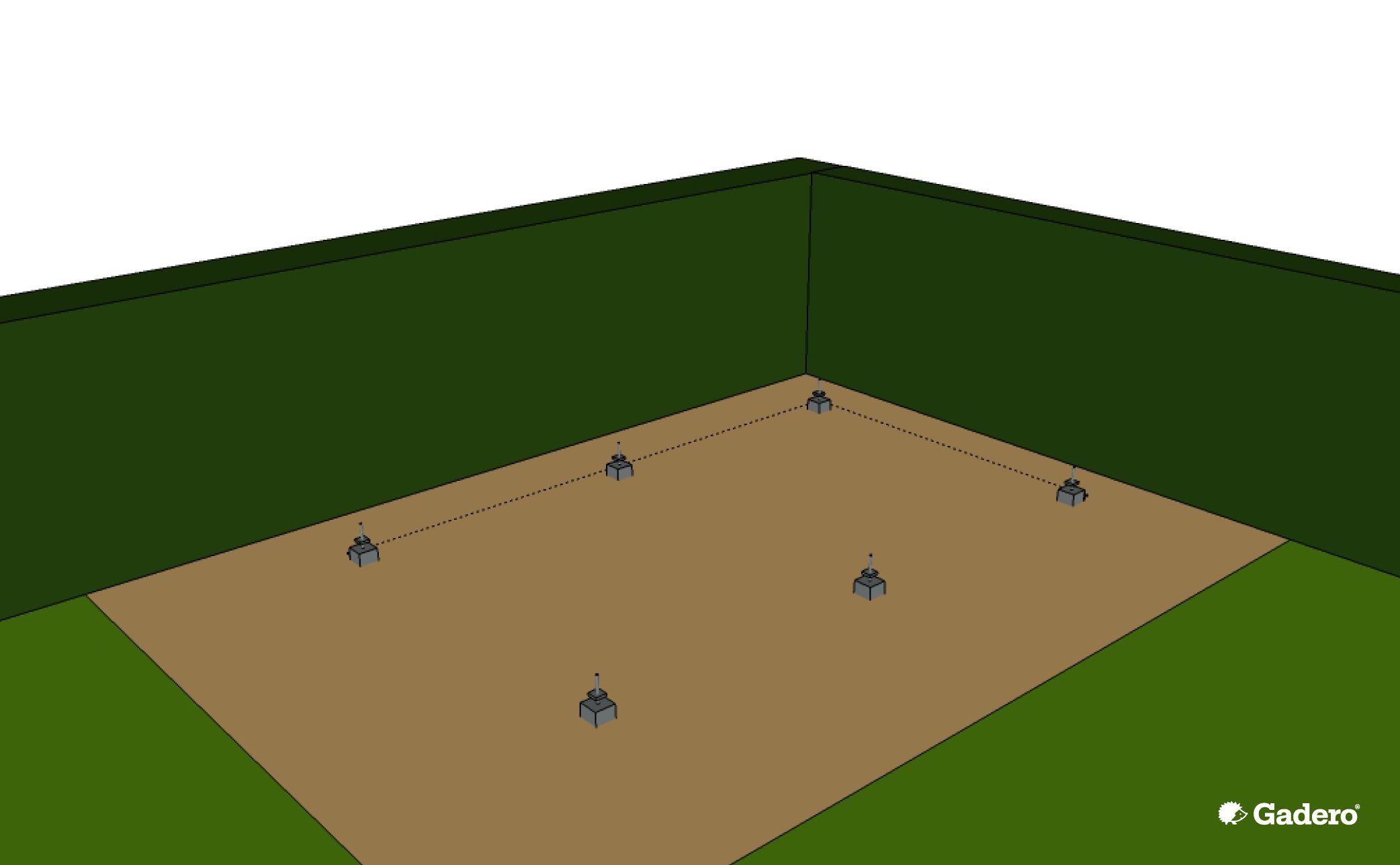 Zelf Overkapping bouwen met plat dak van Lariks Douglas hout