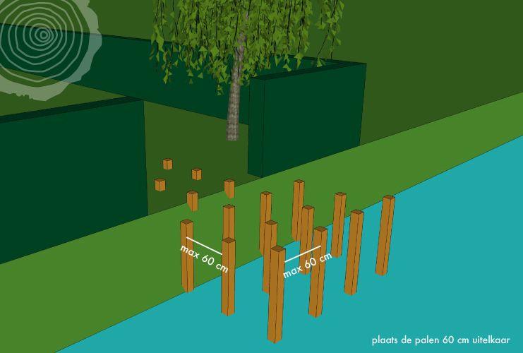 Terrassteiger bouwen water zelf aanlegsteiger van hout plaa