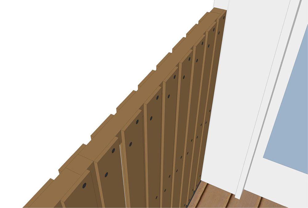 verticale planken schutting