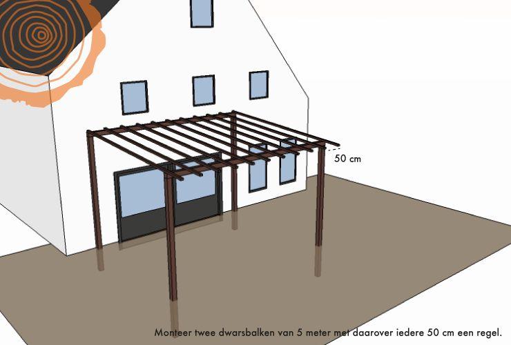 Zelf houten veranda maken veranda van hout bouwen - Veranda met stenen muur ...