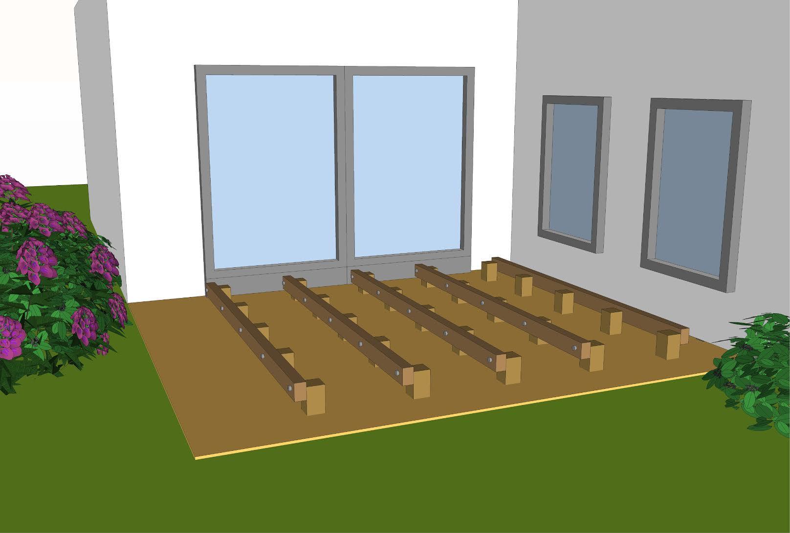 Houten terras aanleggen tips - Dek een terras met tegels ...