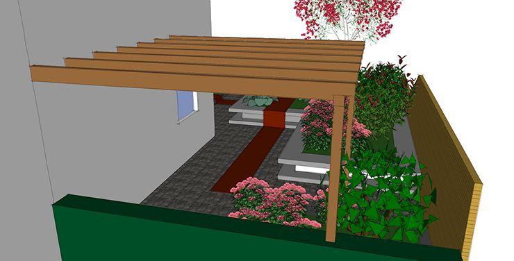 Standaard tuinontwerp ontwerp 3d schets beplantingslijst for 3d schets maken