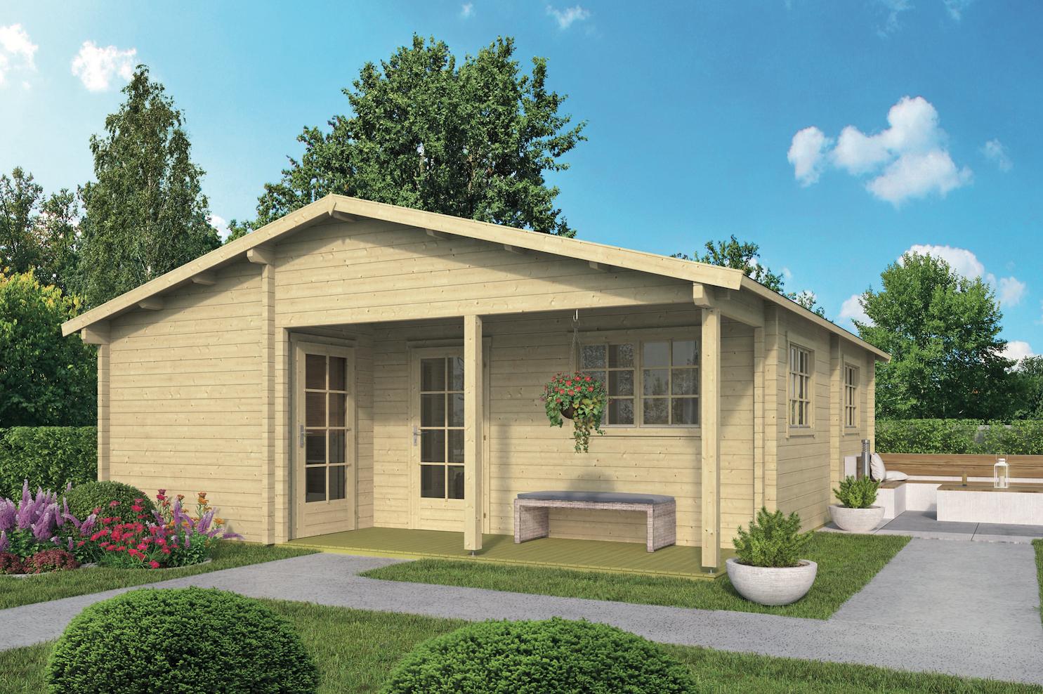 Prefab houten woning blokhut huis hout bouwpakket kopen