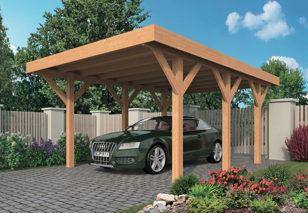 Carport met dak van zonnepanelen: peter van woerden architect