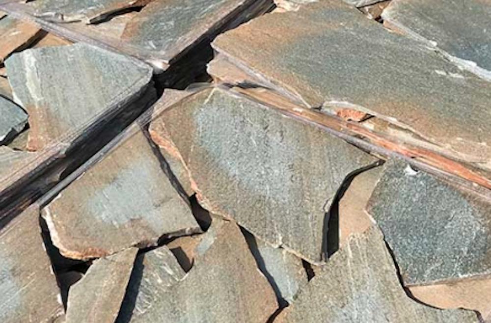 Dikte Natuursteen Tegels : Flagstones karistos green excluton natuursteen tegels buiten