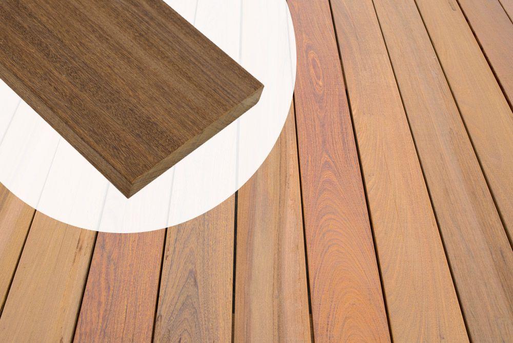 Premium Terrassendiele Ipe Hartholz 2 1 X 14 5 Cm Glatt Glatt