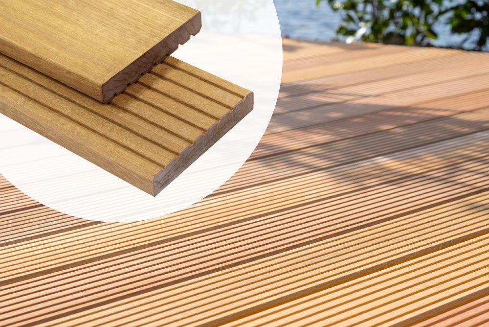 Extreem Welke houten vlonder planken kiezen? Verschillen terras ZO75